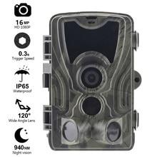 Goujxcy HC801 トレイルカメラ 16mp 1080 1080p 無グロー 940nm 赤外線 led 狩猟カメラナイトビジョン写真トラップ防水カメラスカウト