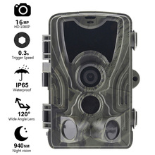 Goujxcy HC801 Trail Camera 16mp 1080p Low Glow 940nm infrared LED Hunting camera Night Vision Photo Trap waterproof camera Scout