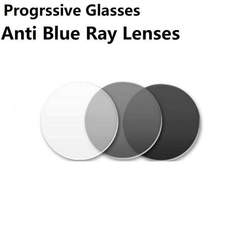 Aspherical progressive photochromic Anti-Blu-ray Googgle Glasses prescription lenses gray reading glasses lenses Custom 10 days