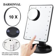 แว่นขยาย LED แต่งหน้ากระจกปรับได้ 16/22 Touch Screen Professional Lighted สำหรับความงามแต่งหน้า