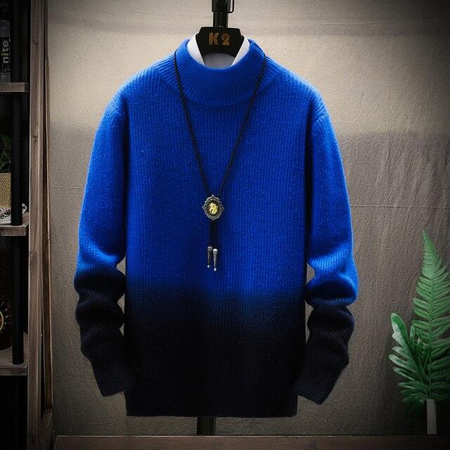 De calidad superior suéter de Navidad para hombres ropa de invierno 2020 grueso cálido suéteres Casual clásico cuello jersey de Cachemira de los hombres 1