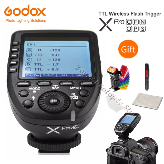 فلاش تريجر ، محفز فلاش كاميرا ، كانون/نيكون/سوني/أوليمبوس/فوجي/, مُحفِّز تشغيل فلاش الكاميرا ماركة Godox XPro C XPro N XPro S XPro O XPro F XPro P TTL ، 2.4 جم