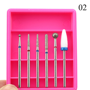 Image 5 - 6pcs Ceramic Diamond Nail Drill Mix Bits Set Milling Cutter for Manicure Electric Machine Pedicure Burrs Nail Art Accessories