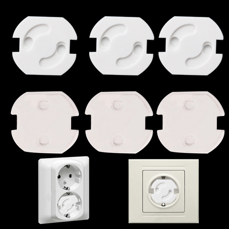 10pcs/Lot Baby Safety Rotate Socket Cover 2 Holes EU Standard Children Electrical Protection Socket Baby Locks Child Socket Pad
