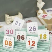 365 dias 2021 mini calendário de mesa material papel bolso livro planejador de mesa anual organizador datas lembrete calendário planejador