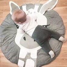 Детский коврик для ползания, для упражнений, для прогулок, толщина 2,5 см, для новорожденных, мягкий ковер, рисунок с животными, Детский ковер для ползания