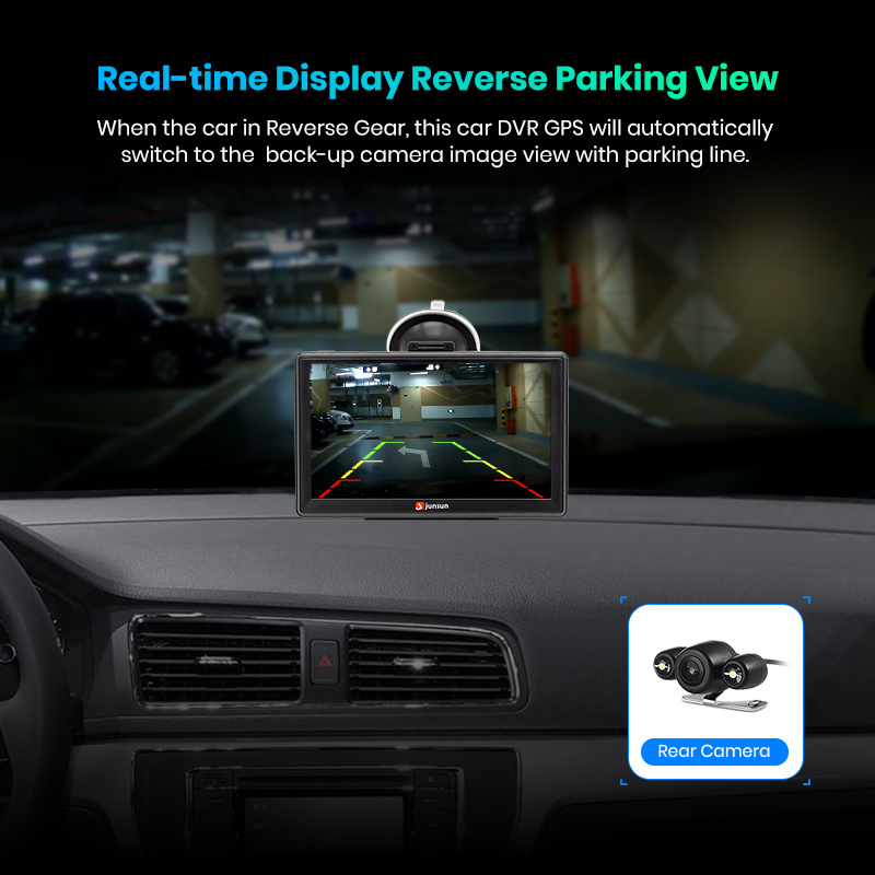 "Image 4 - Junsun D100 7"" HD Car GPS Navigation FM Bluetooth AVIN Navitel 2018 latest Europe Map Sat nav Truck gps navigators automobile-in Vehicle GPS from Automobiles & Motorcycles"