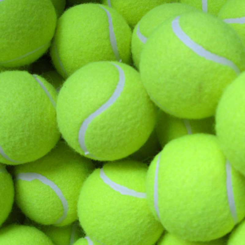 3 Pcs Yellow Tennis Balls Sports Tournament Outdoor  Beach Dog Ideal For Beach Cricket Tennis Practice Or Beach