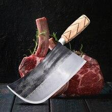 Couteau à découper en acier forgé à la main, à haute teneur en carbone de boucher, viande de poulet outils de cuisine, couteau de Chef chinois, tranchage