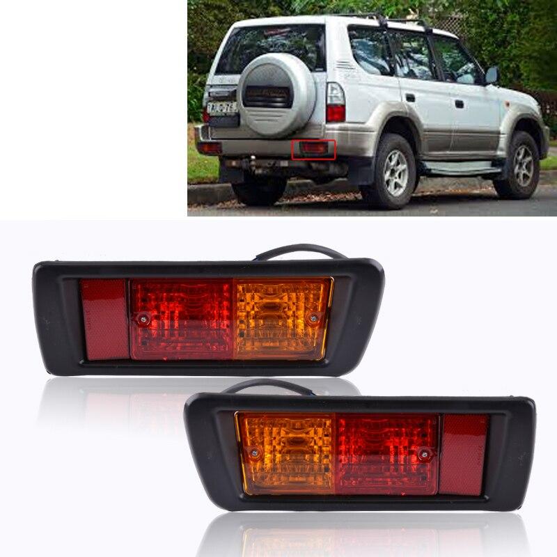 Задний задний светильник, отражатель бампера, противотуманная фара для Land Cruiser Prado Lc90 3400 Fj90 Fj95 1996-2002 Предупреждение ющий задний тормозной све...