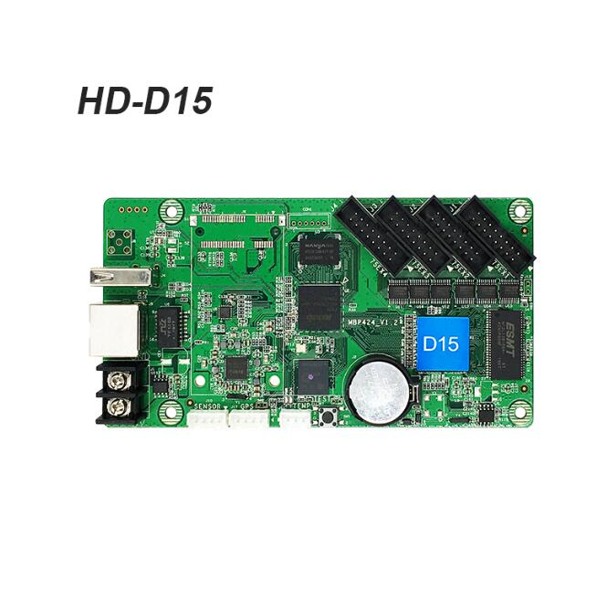 Image 3 - Huidu HD D15 U disk & Ethernet Asynchronous Full Color LED Video Display Controller 4xHUB75E Ports Support 640*6 /320*128pixels-in LED Displays from Electronic Components & Supplies