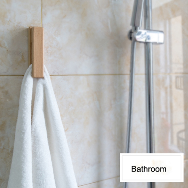 European Style Solid Wood Towel Hook Household Free-punching Towel Hook Wall Hanging Bathroom Supplies Towel Hook For Wall