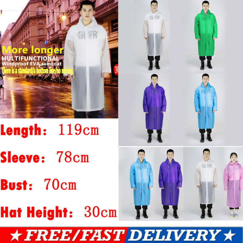 Lightweight Ladies Rain Jacket Coat Kagoul Hooded Pac A Way Showerproof Mac Hood Black Color Or Note In The Order