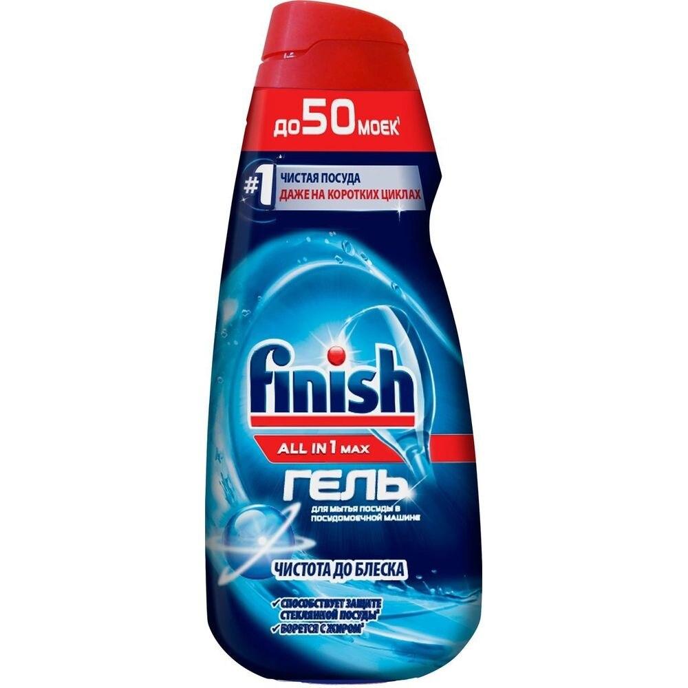 FINISH All in 1 Shine&Protect Моющее средство для мытья посуды в посудомоечных машинах - гель 1 000 мл