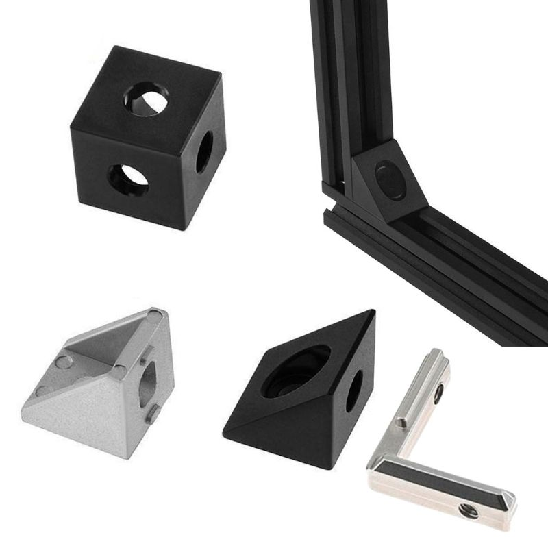 3D 3D Printer 2020 Aluminum Block Cube Prism Connector Wheel Regulator Cube Corner V-slot Three Way Corner Connector 90 Degree