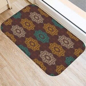 Image 4 - 40 * 60cm Plaid Pattern Mat Non slip Suede Soft Carpet Door Mat Kitchen Living Room Floor Mat Home Bedroom Decorative Floor Mat.