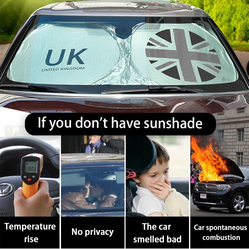 Солнцезащитный козырек для лобового стекла с защитой от ультрафиолетовых