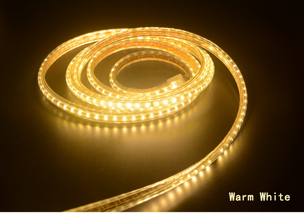 H0f0c8a6d6cb64405b939fb96608c0813V Super bright LED Strip 220V IP67 Waterproof 120LEDs/M SMD 3014 Flexible Light + Power Plug For outdoor garden tape rope