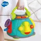 HOLA TOYS 3119 Детский Музыкальный барабан игрушки Обучающие развития музыкальная клавиатура пианино для детей Подарки