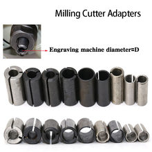 High Precision Adapter Collet Shank CNC Router Tool Adapters Holder Milling Cutter Conversion Chuck 1/2 8MM 6MM(China)