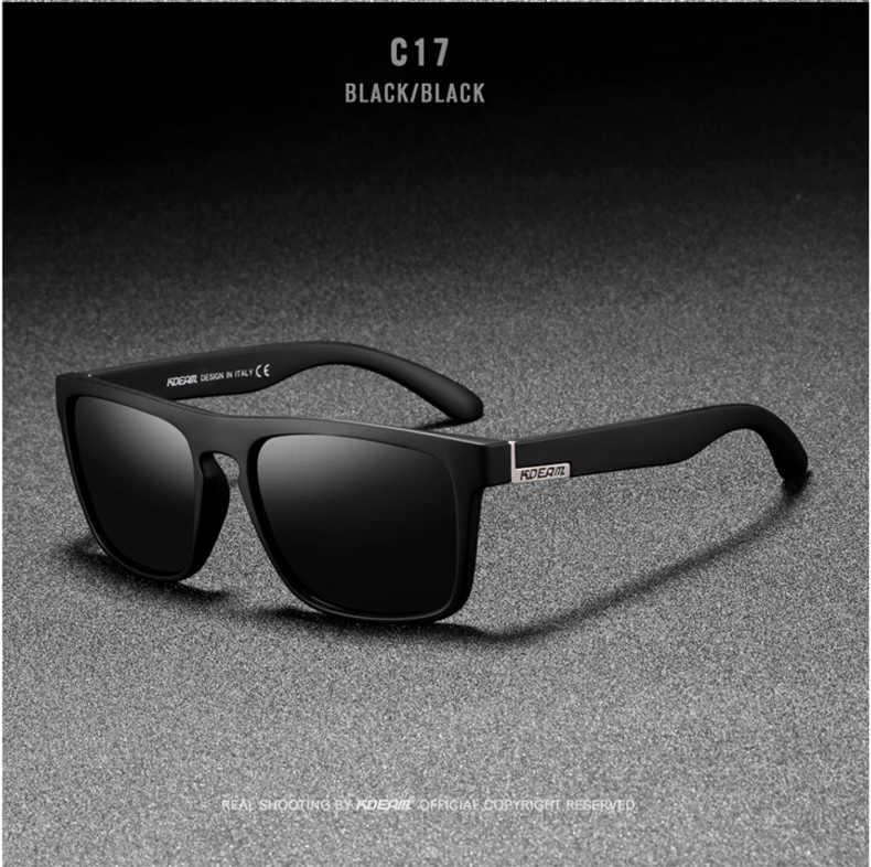 H0f0cb3cef5dc45c7afba095e63f4ac87T - New KDEAM Mirror Polarized Sunglasses Men Ultralight Glasses Frame Square Sport Sun Glasses Male UV400 Travel Goggles CE X8