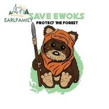 EARLFAMILY 13cm x 8.9cm per salvare Ewoks In autunno e inverno adesivi per auto paraurti personalità decalcomania parabrezza accessori auto