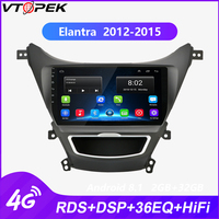 Vtopek 9 inch Android Car Radio for Hyundai Elantra 2012 2015 Touch Screen Multimedia player 4G Network WiFi RDS DSP 2 din