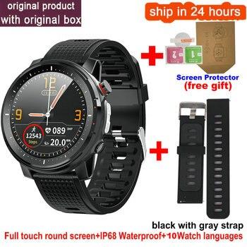 L15 Smart Watch Men 1.3inch Full-fit Round Retina Display Music Control Camera Flashlight PK L5 L9 Smartwatch IP68 Waterproof 16