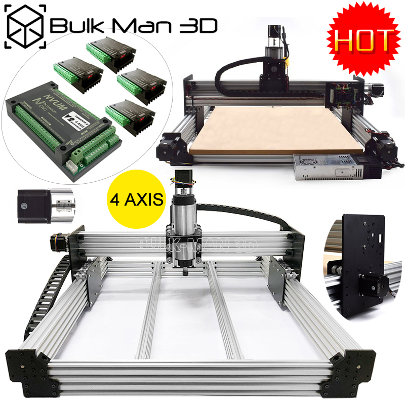 1515 WorkBee CNC Router 4 Axis CNC Engraving Machine Full Kit NVUM Mach3 2.2KW CNC Milling Cutter DIY CNC lathe for woodworking