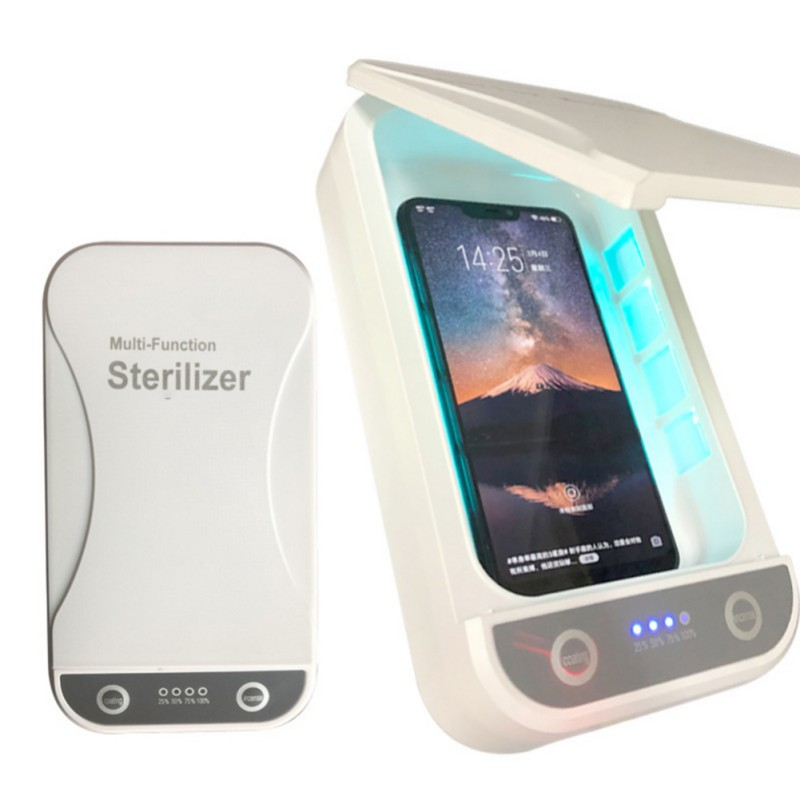 5V UV Light Phone Sterilizer Jewelry Box Phones Cleaner Personal Disinfectant Disinfection Cabinet With Aromatherapy