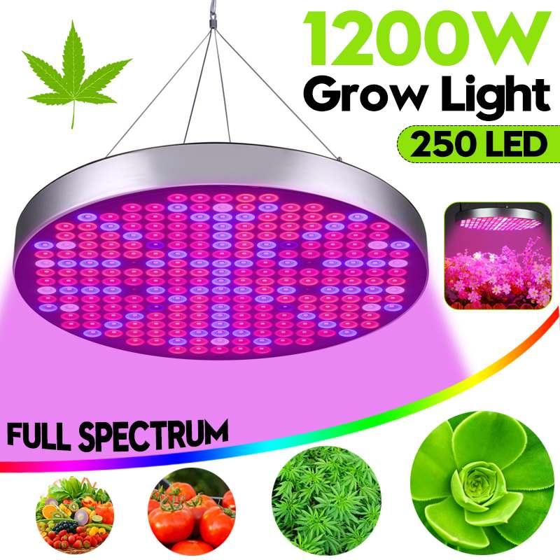 1200W Plants Lamp Grow LED Light Full Spectrum Panel AC85~265V Greenhouse Horticulture Grow Lamp For Indoor Flowering Growth