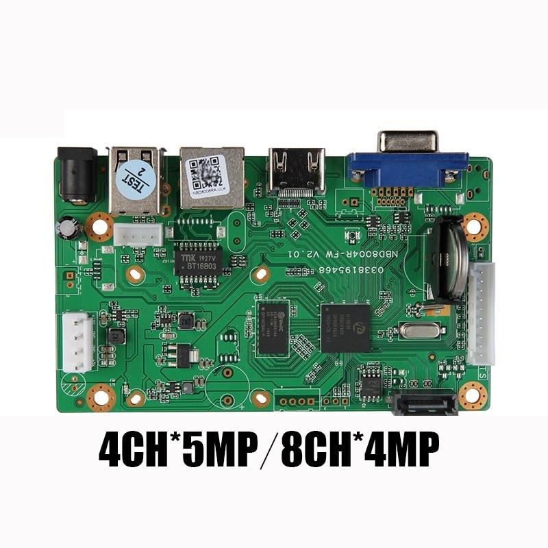 YiiSPO H.265/H.264 NVR Network Vidoe Recorder DVR Board For IP Camera With SATA 4CH*5MP 8CH*4MPLine ONVIF CMS Xmeye P2P