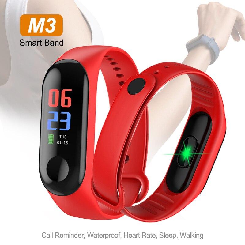 M3 Fitness Tracker bande intelligente montre couleur écran étanche intelligent Fitness Bracelet moniteur de fréquence cardiaque hommes femmes Bracelet