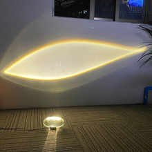 Sanmusion Rainbow Sunset Projector Atmosphere Night Light Home Coffee Background Wall Decoration Sunset Video Show Sky Eye Lamp