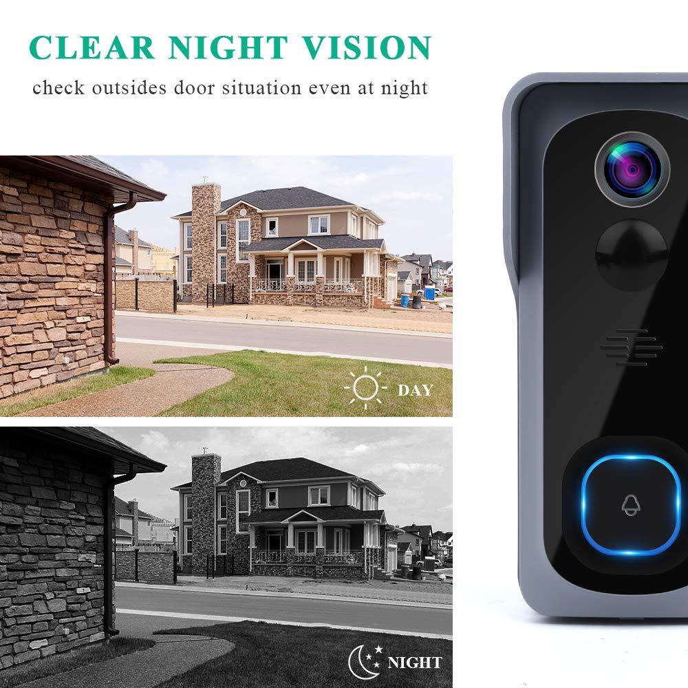Onvian WiFi Türklingel Kamera Wasserdichte 1080P HD Video Tür Glocke Motion Detektor Smart Wireless Türklingel mit Kamera Nachtsicht - 6