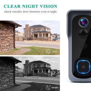 Image 5 - Onvian WiFi kapı zili kamera su geçirmez 1080P HD Video kapı zili hareket dedektörü akıllı kablosuz kapı zili kamera gece görüş ile