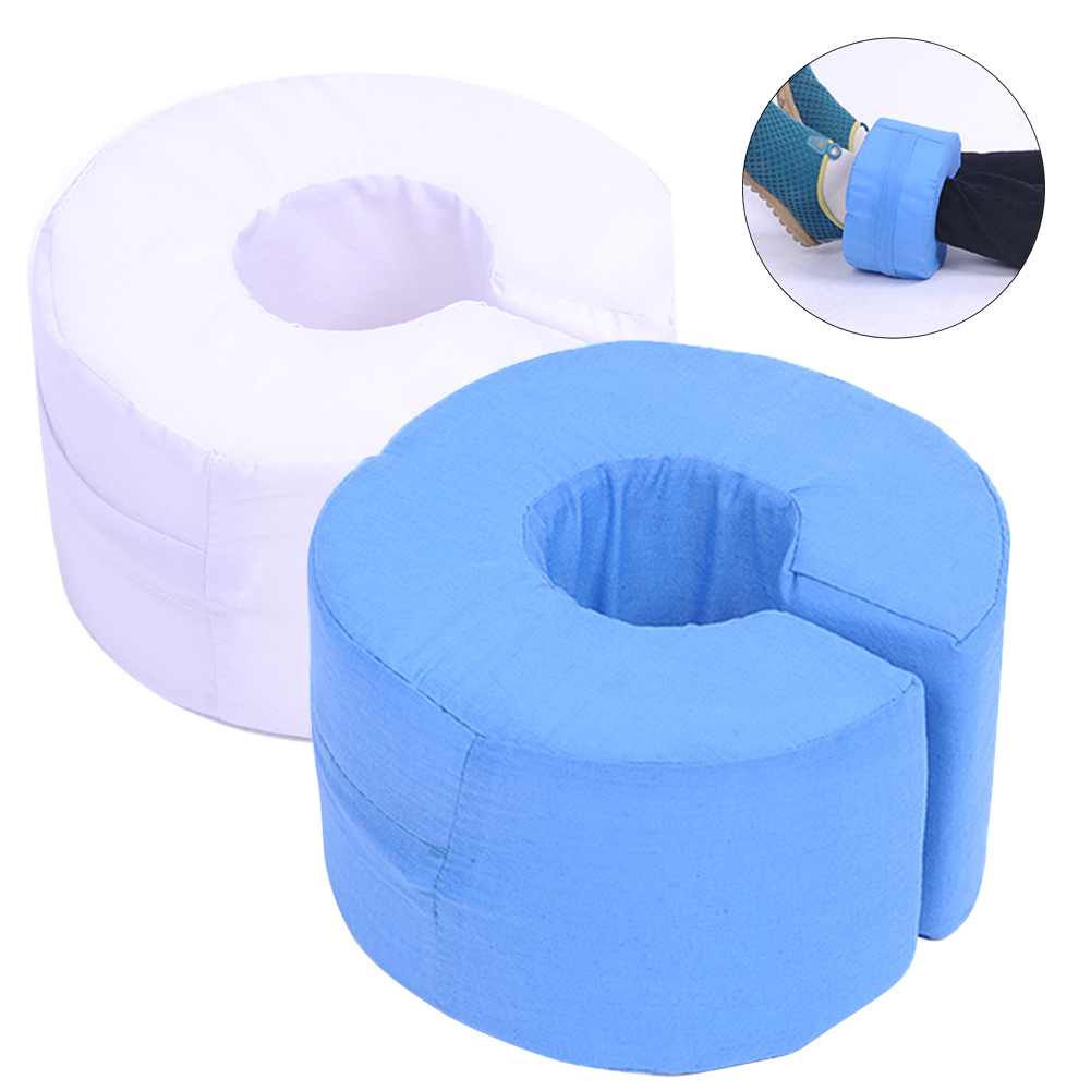 2pcs Anti Bedsore Foam Elevating Cushion Professional Home Washable Cover Adjustable Loop Patients Pressure Foot Hand Leg Rest