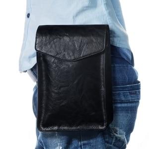 """Image 5 - FULAIKATE 7.2 """"universel sac de téléphone pour Huawei Mate 20X rétro pochette dépaule pour Xiao mi mi Max 3 grande taille sac de taille pour iPhone"""