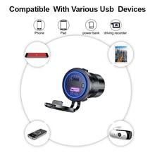 Qc 3.0 USB12V 24V Quick Charge 3.0 Usb Suv Autolader Waterdichte 18W Type C Pd Outlet Snelle lader Met Aan Uit Schakelaar