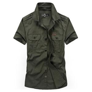 Image 3 - VINRUMIKAขนาดใหญ่M 5XL 2020ชายฤดูร้อนสบายๆแขนสั้นชายเสื้อผ้าฝ้าย100% สีกากีเสื้อArmyเสื้อผ้าสีเขียว