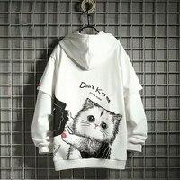 2020 herbst Winter Frauen Hoodies Mode-trend druck Katze Mit Kapuze Frauen Sweatshirt Beiläufigen Frauen tops pullover Hoodies Frauen