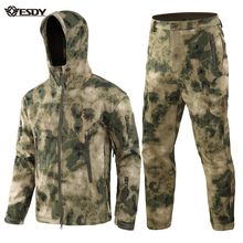 ESDY TAD Gear Tactical Softshell Camouflage Jacket Set Men Army Windbreaker Waterproof Soft Shell Outdoor Set Military Jacket