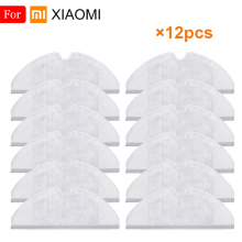 12pcs Dry Wet Mop Cleaner Cloth Accessories For Xiaomi Mijia Roborock S50 S51 Vacuum Cleaner Robot Mopping Cleaning  Spare Parts 4pcs original roborock parts mop cloths for xiaomi vacuum cleaner generation 2 dry wet mopping cleaning