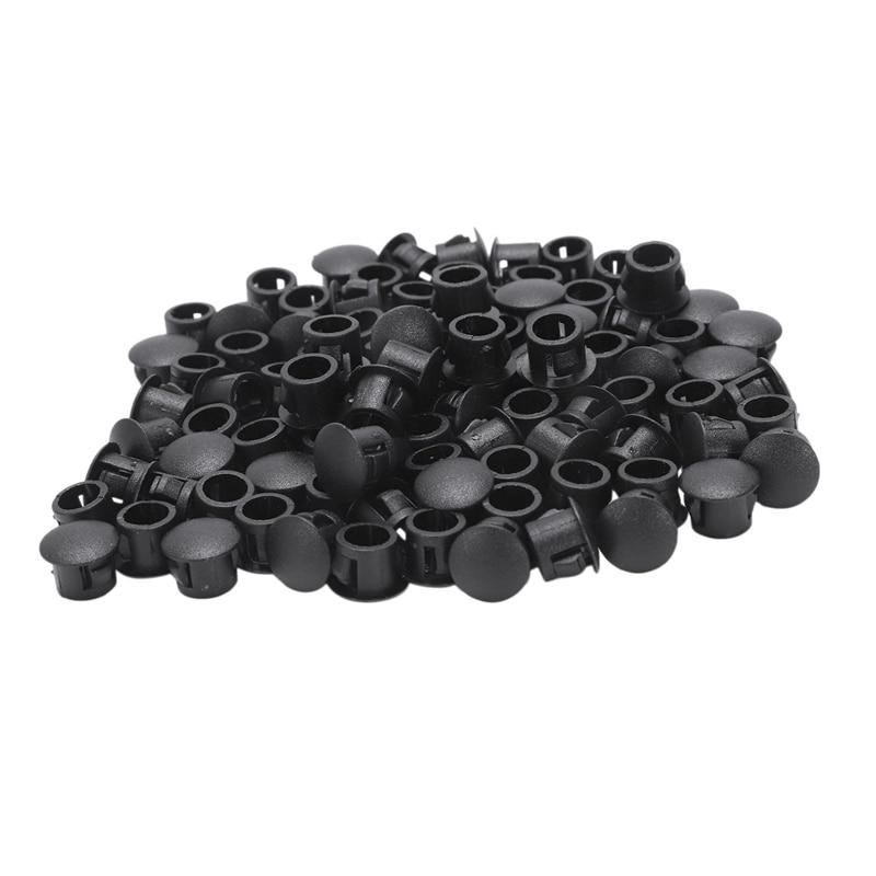 100x 8mm Plastic Hole Plugs Rubber Stopper Plugs Plug