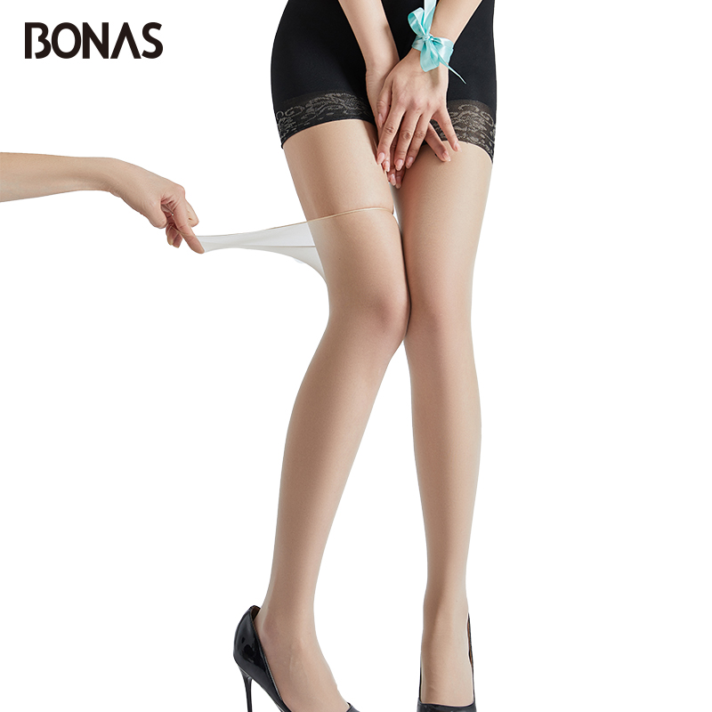 BONAS 15D Women Safety Tights Sexy Breathable Tights Tear-Resistant Pantyhose Ultra-thin Stretchy Stockings Nylon Tights Female