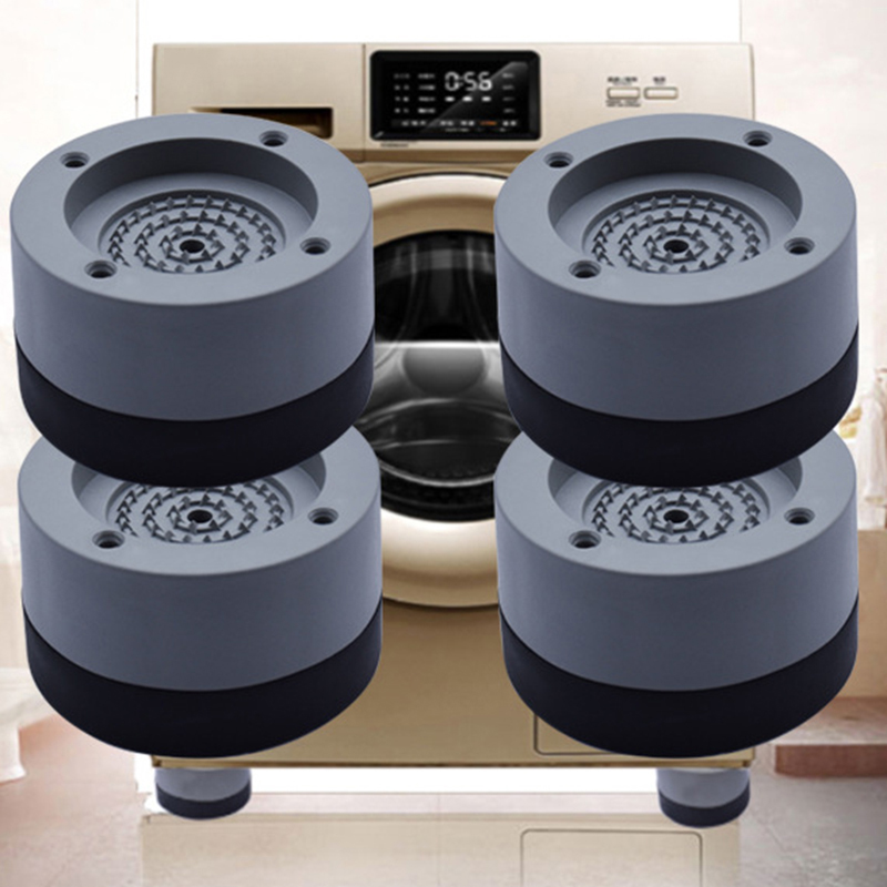 4 Pcs/Set Anti-Vibration Pads Rubber Noise Reduction Vibration Anti-Walk Foot Mount for Washer and Dryer Adjustable Height Washi