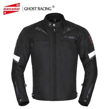 GHOST RACING Motorcycle Jacket Moto Jackets Windproof Waterproof  Moto Jacket Riding body Armor Motocross Jacket Motorcycle