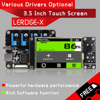 LERDGE X 3D Printer Controller Board for control printer parts motherboard with ARM 32Bit Mainboard tmc2208 lv8729 a4988 driver