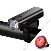 2000mAh مصباح يدوي للدراجات مصباح دراجة قابل للشحن بمنفذ USB للمصابيح الأمامية للدراجات الجبلية الطريق المقود أضواء المصباح الأمامي 400 التجويف