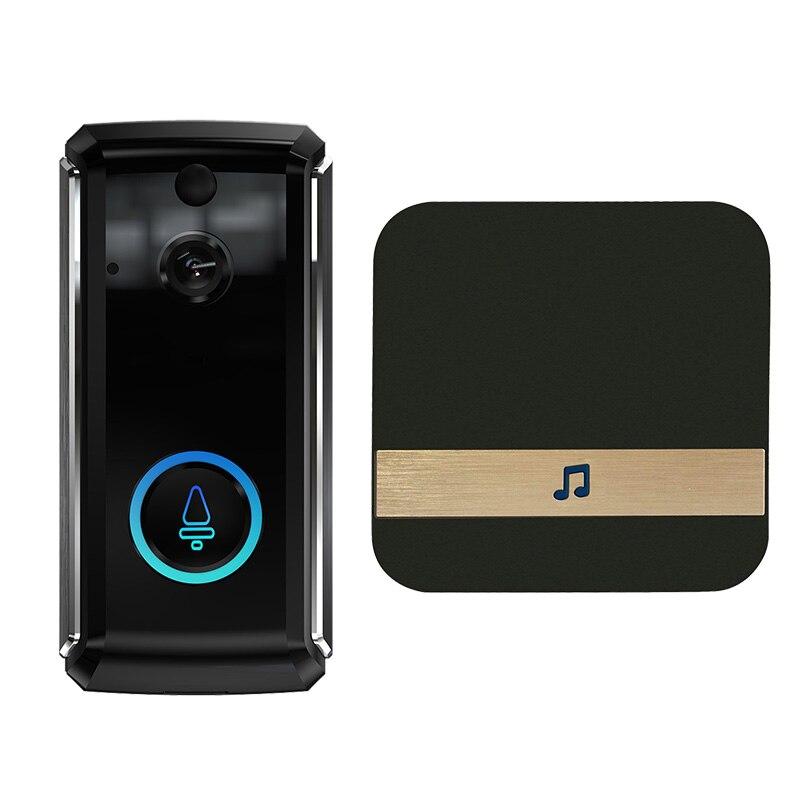 AMS-Visual Doorbell Smart Wifi Intercom Doorbell Low Power Monitoring Doorbell With Receiver Smart Voice Intercom Wireless Doorb